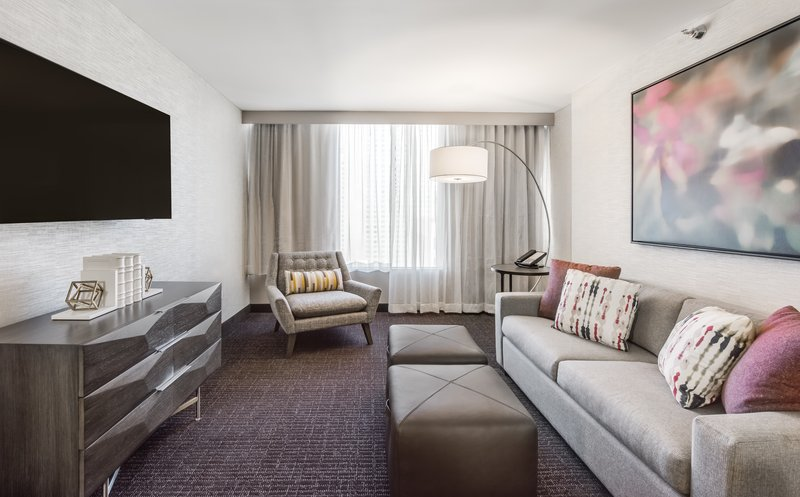 Crowne Plaza Downtown Denver-King Suite Sitting and TV Area<br/>Image from Leonardo