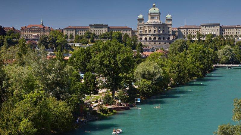 Holiday Inn Bern - Westside-City Trip - Aare - River of Bern Urban Swimming<br/>Image from Leonardo