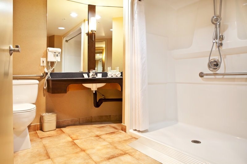 Holiday Inn Express & Suites Langley-Wheelchair Accessible Bathroom<br/>Image from Leonardo
