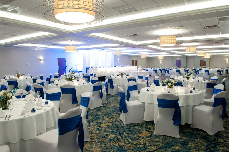 Crowne Plaza Hotel & Suites Pittsburgh South-New Ballroom set for a wedding<br/>Image from Leonardo