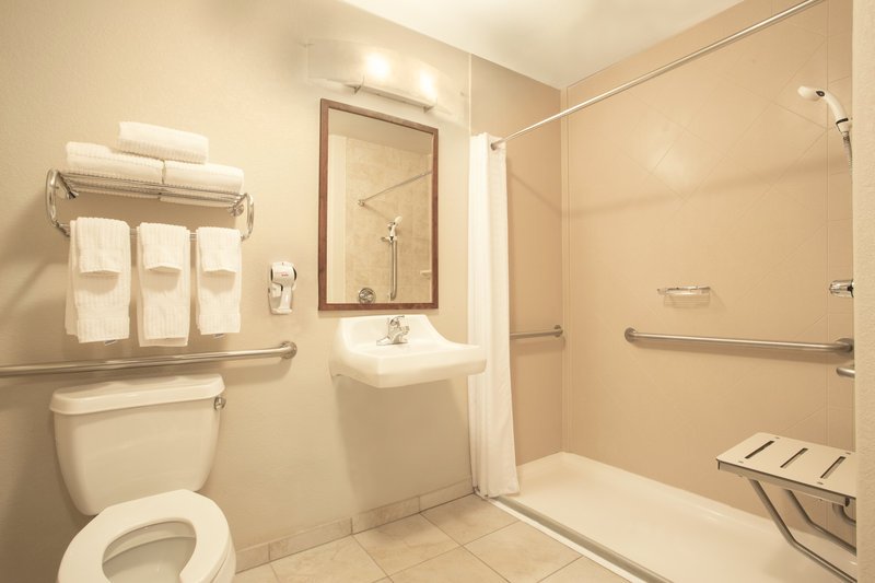 Candlewood Suites Yuma-ADA/Handicapped accessible Guest Bathroom with roll-in shower<br/>Image from Leonardo