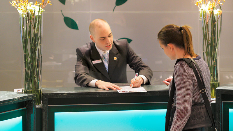 Crowne Plaza Brussels - Le Palace-Front Desk multilingual staff at your service<br/>Image from Leonardo