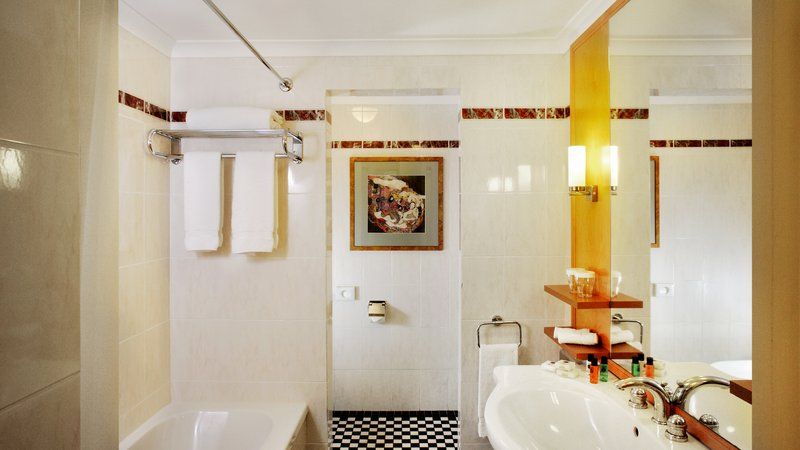 Crowne Plaza Brussels - Le Palace-Guest Bathroom in Art Nouveau style<br/>Image from Leonardo