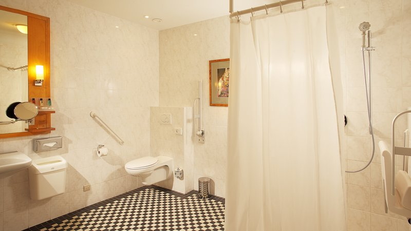 Crowne Plaza Brussels - Le Palace-Wheelchair Accessible bathroom<br/>Image from Leonardo