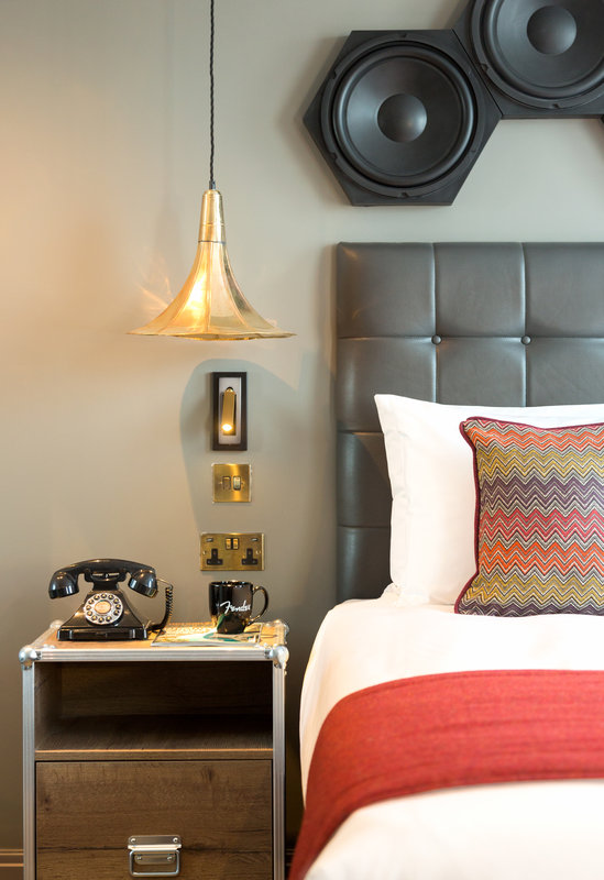 Indigo Cardiff-An inspiring music styled guest room.<br/>Image from Leonardo