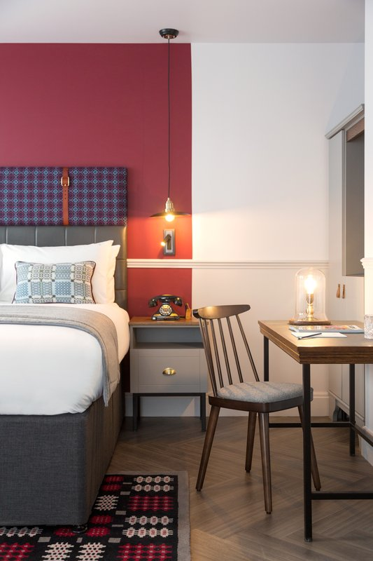 Indigo Cardiff-Standard Room - inspired by our Welsh heritage.<br/>Image from Leonardo