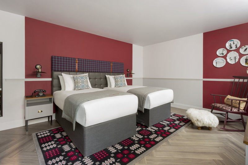 Indigo Cardiff-Boutique Made in Wales Twin Bedroom<br/>Image from Leonardo