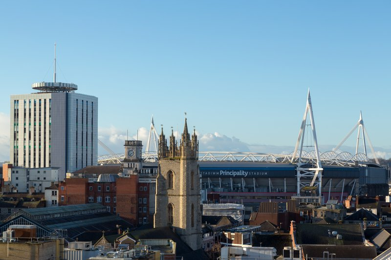 Indigo Cardiff-View from Marco Pierre White Steakhouse, Bar and Grill Terrace<br/>Image from Leonardo
