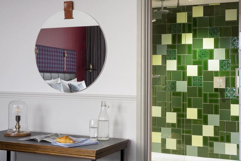 Indigo Cardiff-Made in Wales Twin Room and Bathroom Feature<br/>Image from Leonardo