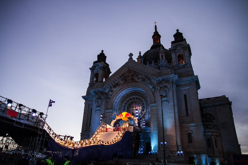 Holiday Inn St. Paul Downtown-Red Bull Crashed Ice in front of St. Paul Cathedral<br/>Image from Leonardo
