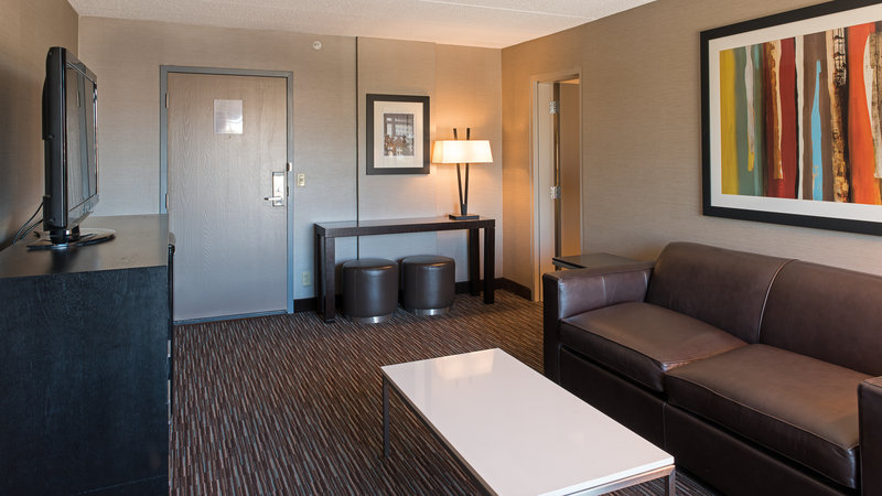 Holiday Inn St. Paul Downtown-Newly renovated king suite with separate living space.<br/>Image from Leonardo