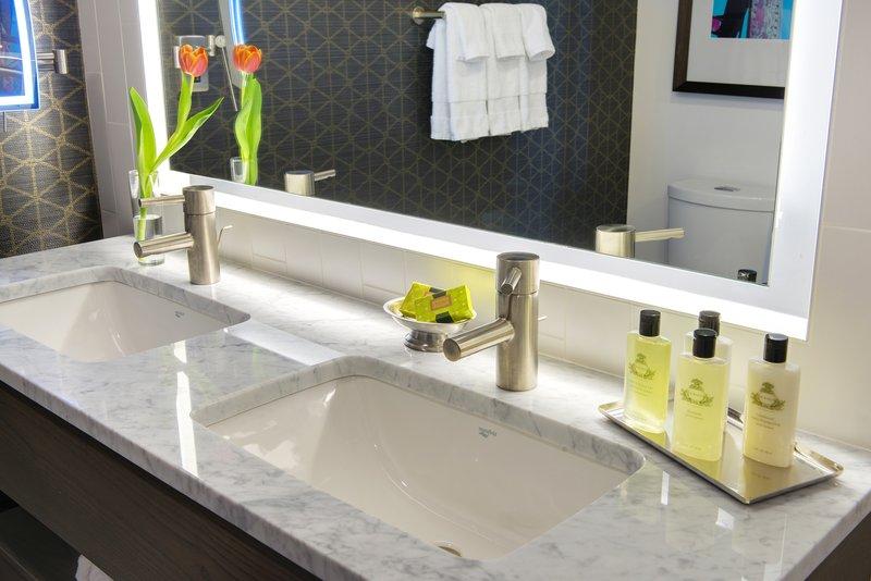 InterContinental Saint Paul Riverfront- double sink Guest Bathroom<br/>Image from Leonardo