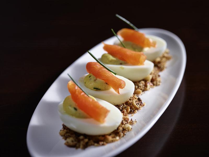 InterContinental Saint Paul Riverfront-Deviled Eggs appetizer<br/>Image from Leonardo