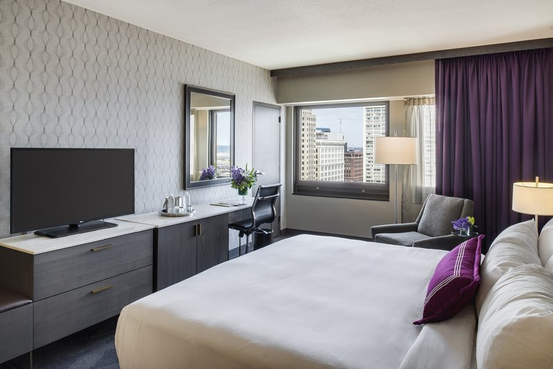 InterContinental Saint Paul Riverfront-Guest Room with king bed<br/>Image from Leonardo