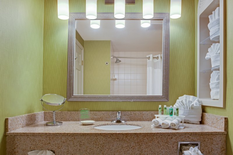 Holiday Inn Express & Suites Tampa-I-75 @ Bruce B. Downs-Standard Guest Bathroom<br/>Image from Leonardo