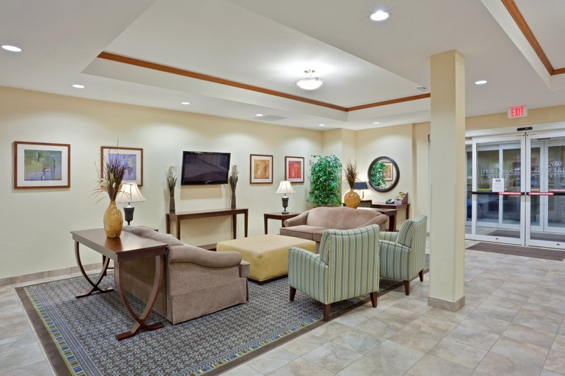 Candlewood Suites Portland Airport-Enjoy our spacious lobby while here on extended stay<br/>Image from Leonardo