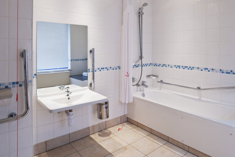 Holiday Inn Warrington-Accessible bathroom fully designed for accessibility.<br/>Image from Leonardo
