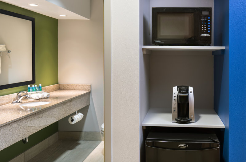 Holiday Inn Express Cedar Rapids (Collins Rd)-Built-in Microwave and Fridge with Keurig in Every Room<br/>Image from Leonardo