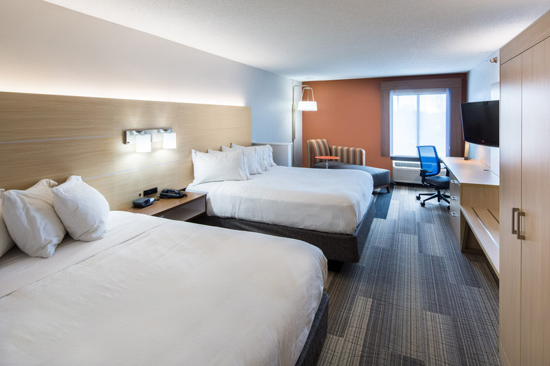 Holiday Inn Express Cedar Rapids (Collins Rd)-Executive Two Queen Bedded Room with microwave and fridge<br/>Image from Leonardo