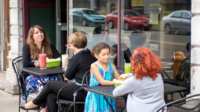 Holiday Inn Elmira - Riverview-Turtle Leaf Cafe, just a few short blocks down Water Street.<br/>Image from Leonardo
