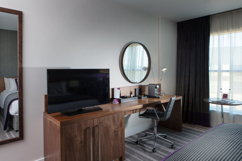Crowne Plaza Newcastle - Stephenson Quarter-Work desk, coffee station, TV with Apple TV available<br/>Image from Leonardo