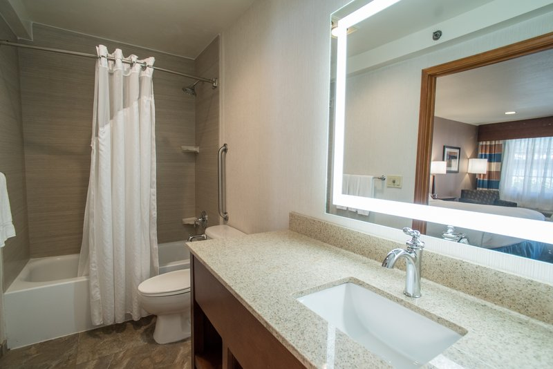 Holiday Inn Express South Lake Tahoe-Guest Bathroom<br/>Image from Leonardo