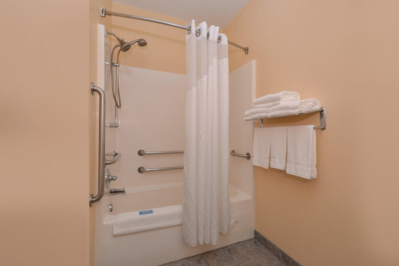 Holiday Inn Express Morgantown-Handicap Accessible Shower<br/>Image from Leonardo
