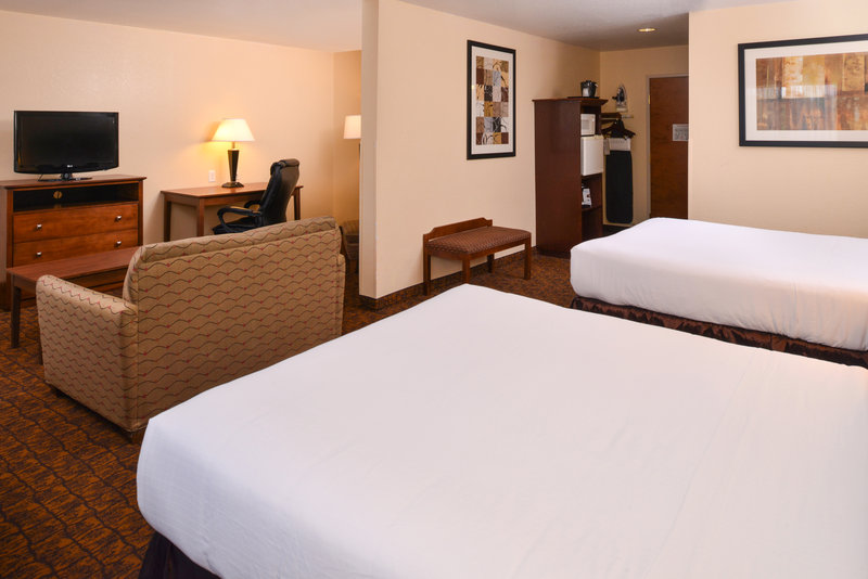 Holiday Inn Express Morgantown-Two Queen Bed with Couch Suite Room<br/>Image from Leonardo