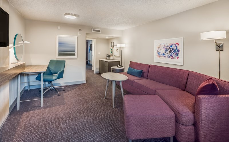 Crowne Plaza Suites Arlington - Ballpark - Stadium-The spacious living room of our WorkLife Suites!<br/>Image from Leonardo