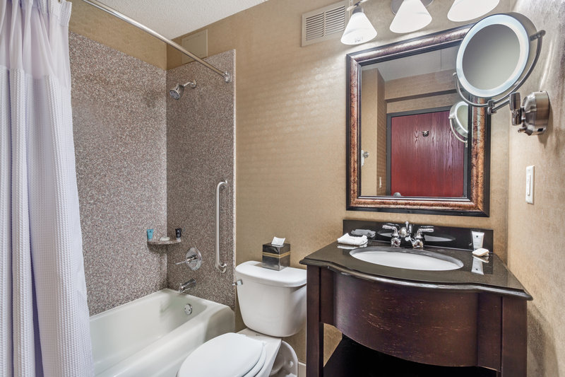 Crowne Plaza Milwaukee Airport-Guest Bathroom <br/>Image from Leonardo