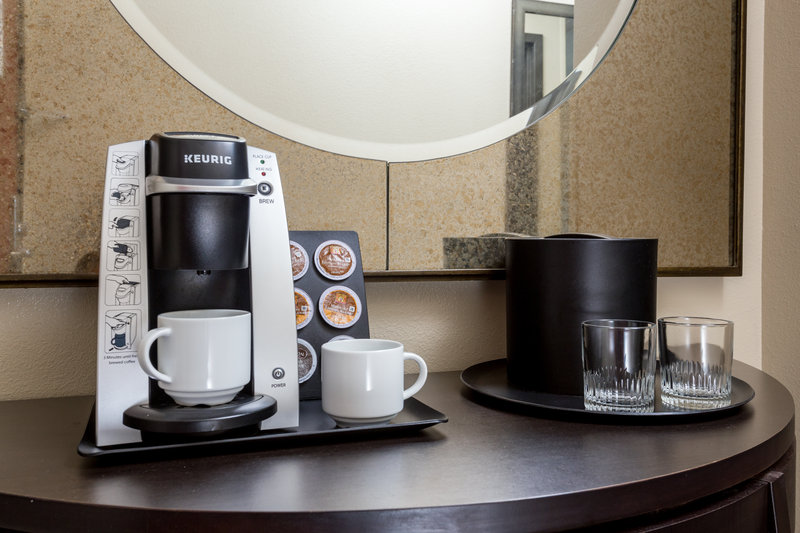 Crowne Plaza Milwaukee Airport-Coffee Bar in Room <br/>Image from Leonardo
