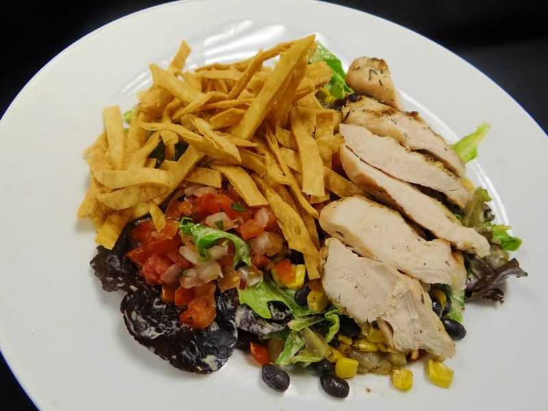 Crowne Plaza Milwaukee Airport-Tortilla Salad with Chicken at Altitude<br/>Image from Leonardo