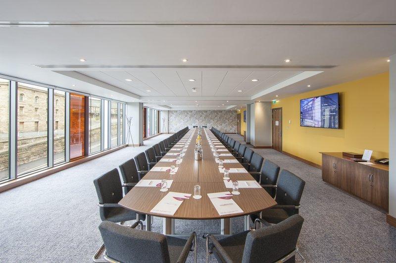 Crowne Plaza Newcastle - Stephenson Quarter-Meeting Room set Board Room Style<br/>Image from Leonardo