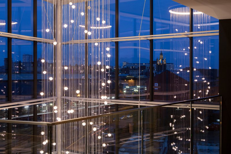 Crowne Plaza Newcastle - Stephenson Quarter-View of our chandelier from our Club Lounge<br/>Image from Leonardo