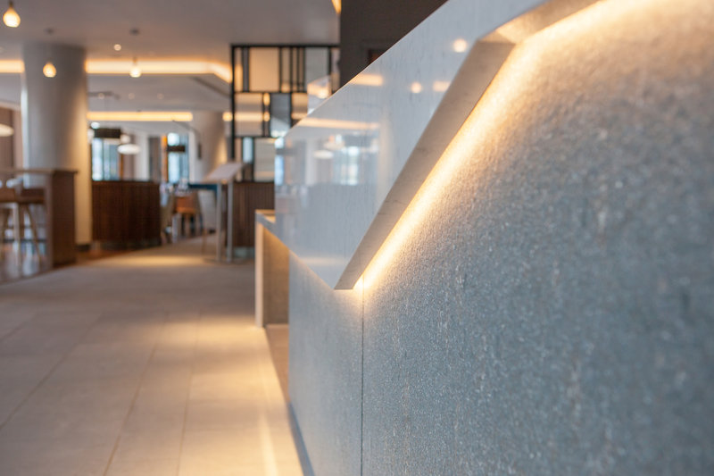 Crowne Plaza Newcastle - Stephenson Quarter-Concrete design is used within our entire hotel<br/>Image from Leonardo
