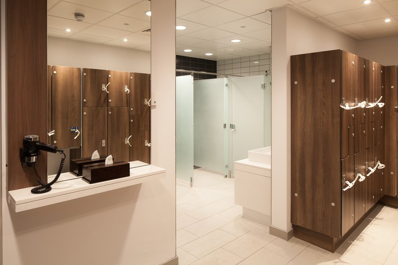 Crowne Plaza Newcastle - Stephenson Quarter-Mineral House changing rooms with lockers and showers<br/>Image from Leonardo