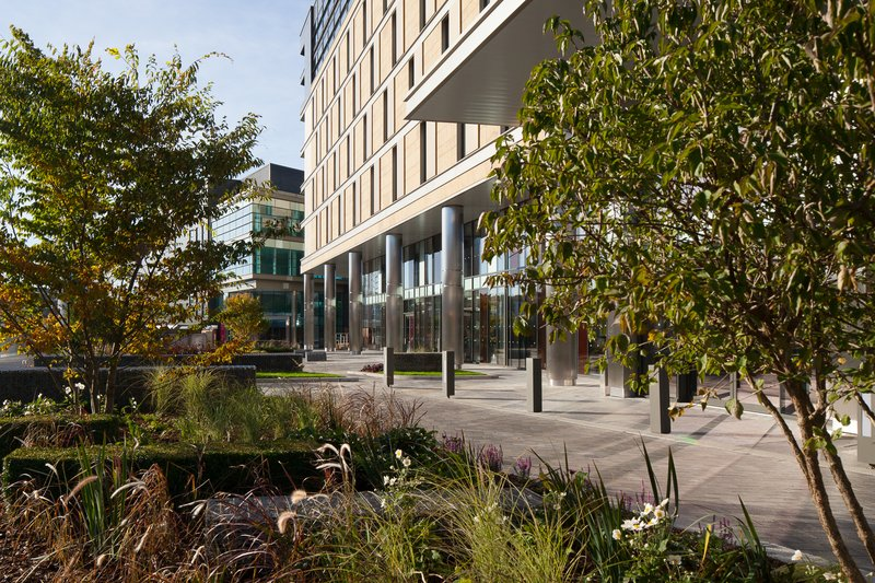 Crowne Plaza Newcastle - Stephenson Quarter-Hotel Terrace, outdoor seating available in Spring and Summer<br/>Image from Leonardo