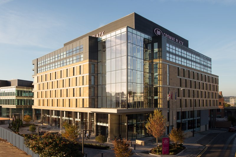 Crowne Plaza Newcastle - Stephenson Quarter-Hotel in the autumn from Forth Street<br/>Image from Leonardo