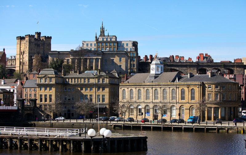 Crowne Plaza Newcastle - Stephenson Quarter-Guildhall on Newcastle Quayside, half a mile walk<br/>Image from Leonardo