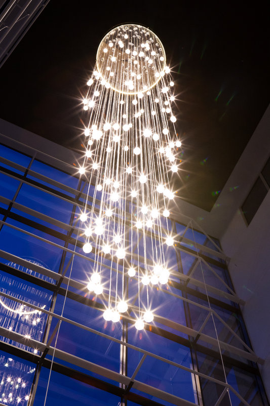Crowne Plaza Newcastle - Stephenson Quarter-7 storys tall, our glass chandelier can be seen across the city<br/>Image from Leonardo