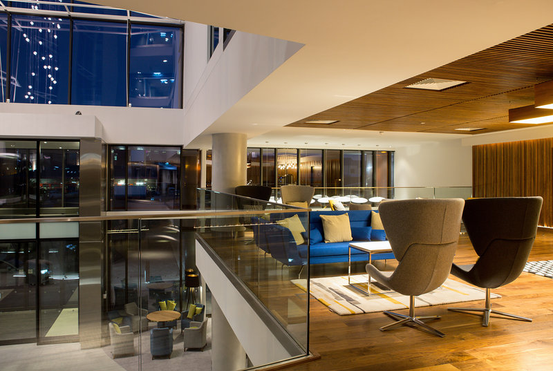 Crowne Plaza Newcastle - Stephenson Quarter-Break out area overlooking the atrium and entrance<br/>Image from Leonardo