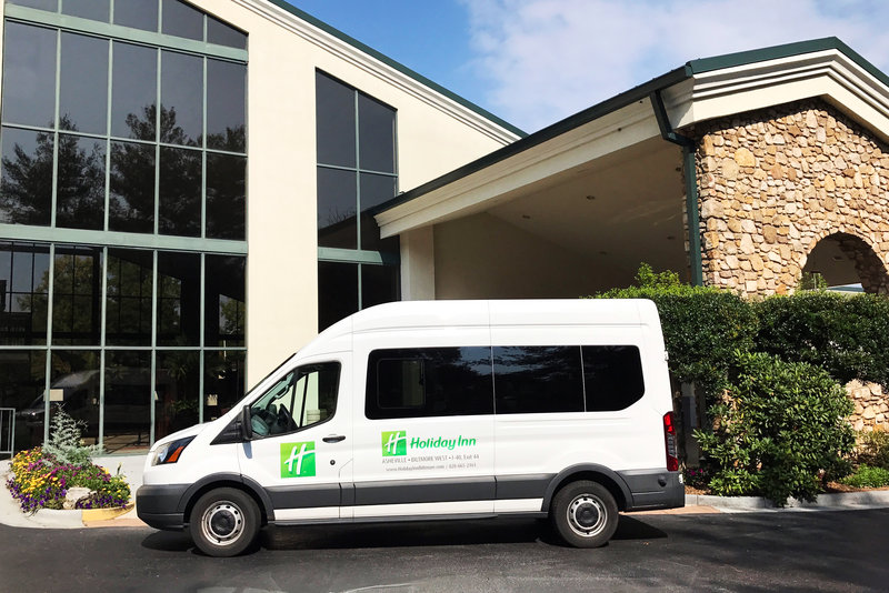Holiday Inn Asheville - Biltmore West-Round -trip shuttle to downtown in the evenings.<br/>Image from Leonardo