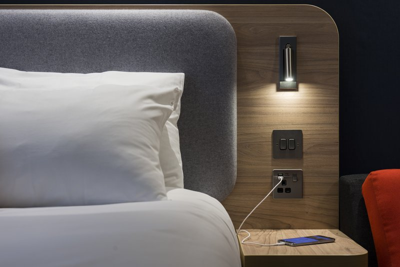 Holiday Inn Express Milton Keynes-Phone ran out of juice? Charge it using the handy USB ports<br/>Image from Leonardo