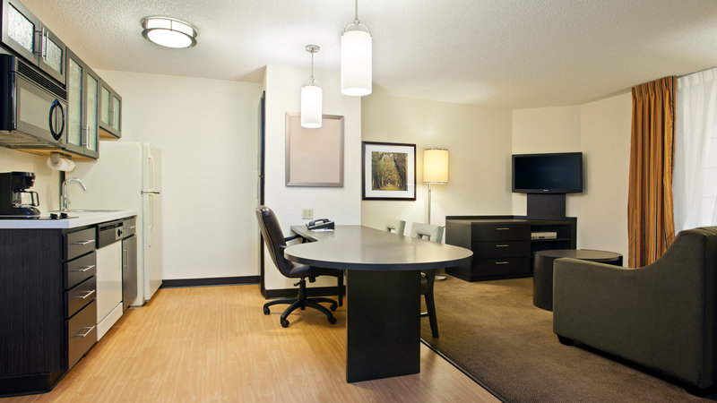 Candlewood Suites Clearwater-view of kitchenette and living room<br/>Image from Leonardo