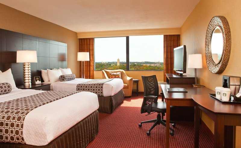 Crowne Plaza Boston - Newton-Double Bed Guest Room<br/>Image from Leonardo