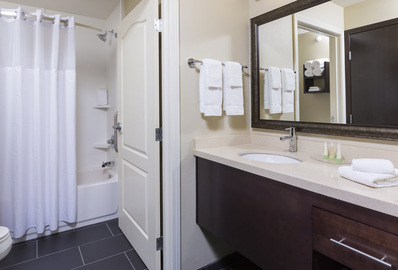 Staybridge Suites Canton-Our guest bathrooms feature toiletries and fresh linens<br/>Image from Leonardo