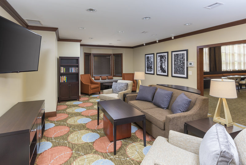 Staybridge Suites Canton-Kick back and relax in the comfort of our lobby lounge.<br/>Image from Leonardo