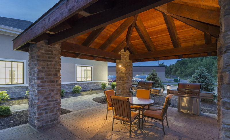 Staybridge Suites Canton-Talk the day or night away outside on our outdoor patio.<br/>Image from Leonardo