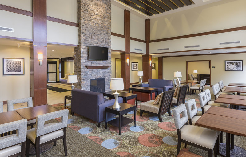 Staybridge Suites Canton-Visit with family and friends in our inviting lobby lounge.<br/>Image from Leonardo