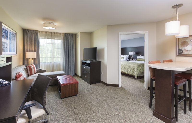 Staybridge Suites Canton-View of our one bedroom suite with living area and kitchen<br/>Image from Leonardo
